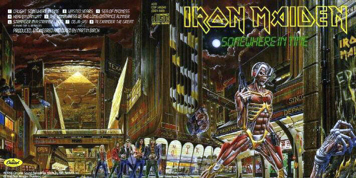 "Iron Maiden ""Somewhere In Time"" (Copyright: EMI / Riggs)"